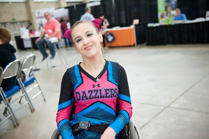 Dazzlers Cheerleader at the Expo